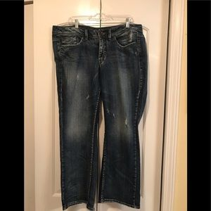 Silver Woman's Jeans Size 18